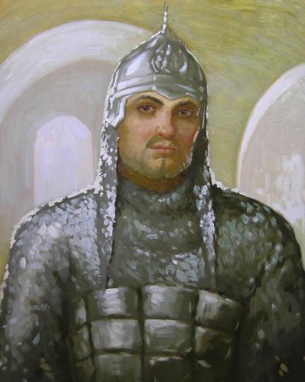 Альоша попович портрет полотно олія