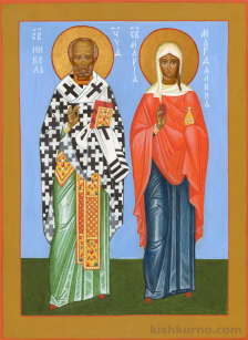 Icon of Saint Nicholas and Saint Mary Magdalene