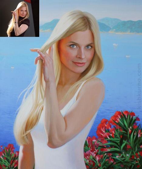 La perla портрет полотно олія