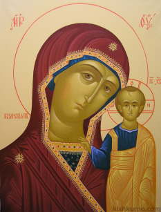 A copy of the icon of Our Lady of Kazan
